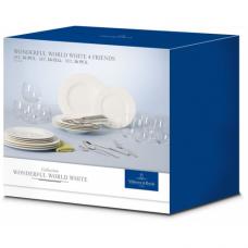Набор посуды Villeroy & Boch Wonderful World White 4 Friends, 36 предметов