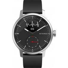 Смарт-часы с ЭКГ Withings ScanWatch 42mm with Silicone Band Black чёрные