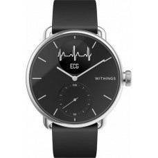 Смарт-часы с ЭКГ Withings ScanWatch EKG 38mm with Silicone Band Black чёрные